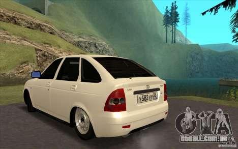 Lada Priora 2172 Hatchback para GTA San Andreas esquerda vista