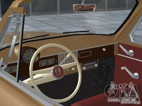 Moskvich 403 Cabrio para GTA San Andreas vista traseira