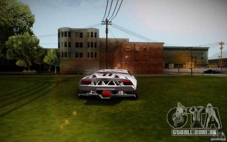 Lamborghini Sesto Elemento para GTA San Andreas traseira esquerda vista
