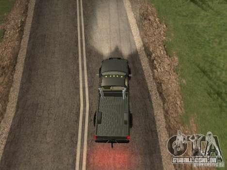Chevrolet Silverado 2012 para GTA San Andreas vista traseira