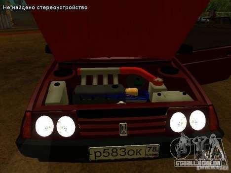 VAZ 2109 para GTA San Andreas interior