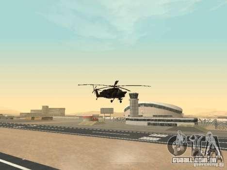 Mi-28 para GTA San Andreas vista interior