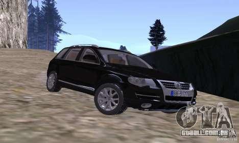 Volkswagen Touareg para GTA San Andreas vista traseira