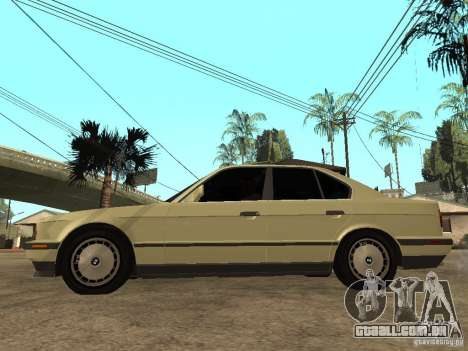 BMW 520i para GTA San Andreas esquerda vista