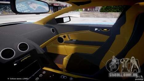 Lamborghini Reventon Polizia Italiana para GTA 4 vista interior