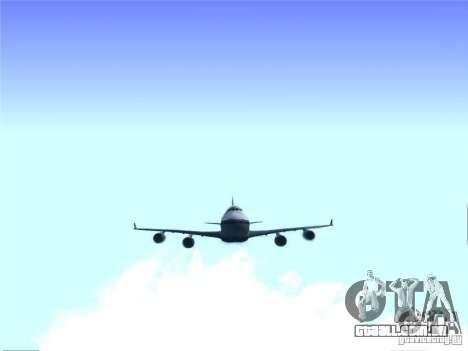 Boeing 747-400 Malaysia Airlines para GTA San Andreas vista traseira