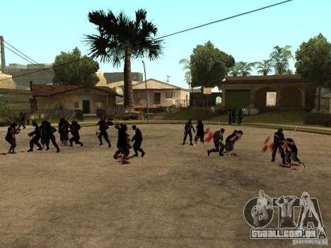 A luta com o katanas na Grove Street para GTA San Andreas segunda tela