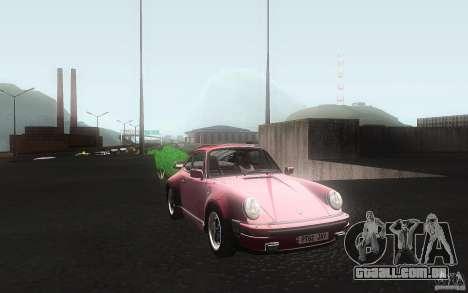 Porsche 911 Turbo 1982 para GTA San Andreas vista interior