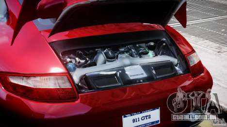 Posrche 911 GT2 para GTA 4 vista de volta