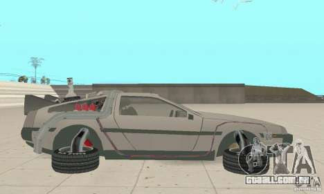 DeLorean DMC-12 (BTTF2) para GTA San Andreas esquerda vista