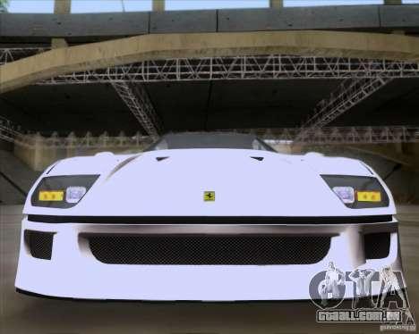Ferrari F40 para vista lateral GTA San Andreas