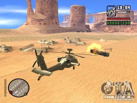 AH-64D Longbow Apache para GTA San Andreas vista superior
