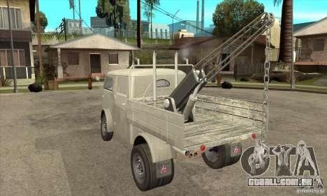 Tempo Matador 1952 Towtruck version 1.0 para GTA San Andreas traseira esquerda vista