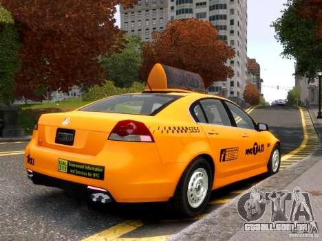 Holden NYC Taxi para GTA 4 vista direita