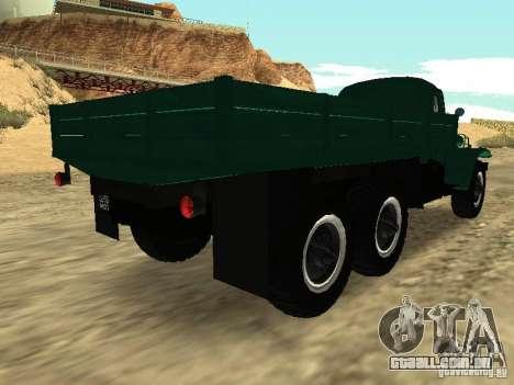 ZIL 157 para GTA San Andreas traseira esquerda vista