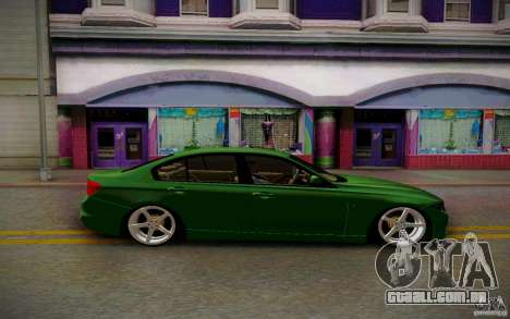 BMW 3 Series F30 Stanced 2012 para GTA San Andreas vista traseira