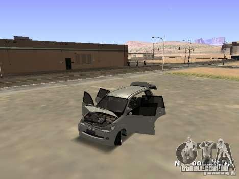 Toyota Avanza Street Edition para GTA San Andreas vista traseira