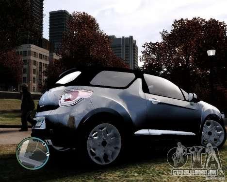 Citroen DS3 2011 para GTA 4 vista de volta