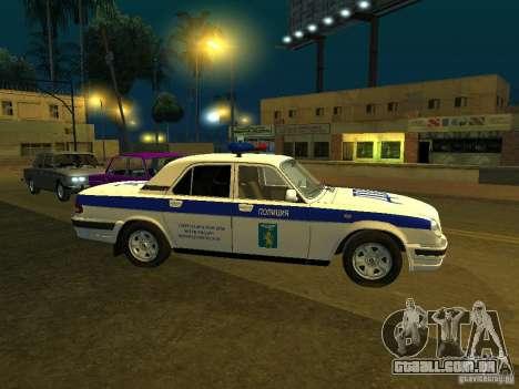 GAZ 31105 polícia para GTA San Andreas esquerda vista