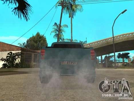 Dacia 1400 Pickup Battle Machine para GTA San Andreas esquerda vista