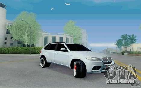 BMW X5M E70 para GTA San Andreas esquerda vista
