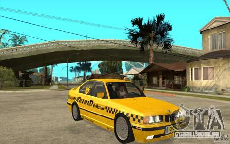 BMW 525tds E34 Taxi para GTA San Andreas vista traseira