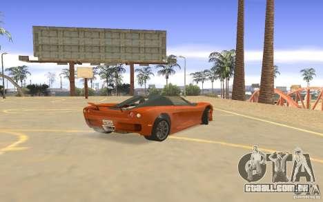 Veloche carro para GTA San Andreas vista direita