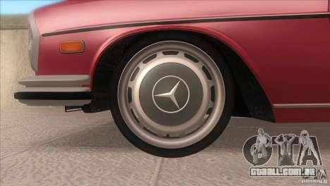 Mercedes-Benz 300 SEL para vista lateral GTA San Andreas