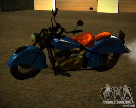 Indian Chief 1948 para GTA San Andreas traseira esquerda vista