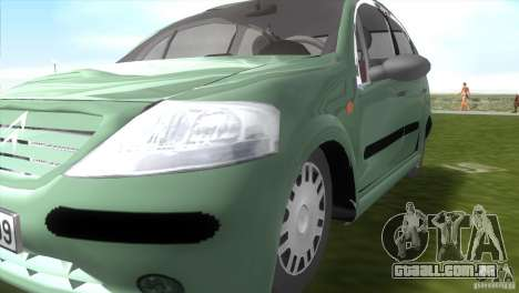 Citroen C3 para GTA Vice City vista direita