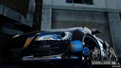 Audi R8 Spider 2011 para GTA 4 vista de volta