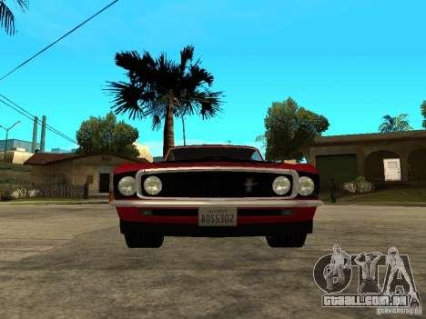 1969 Ford Mustang Boss 302 para GTA San Andreas vista direita