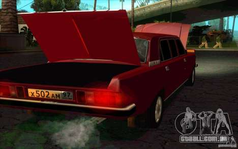 GAZ 3102 Volga Limousine para GTA San Andreas traseira esquerda vista
