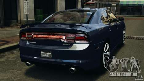 Dodge Charger SRT8 2012 v2.0 para GTA 4 traseira esquerda vista