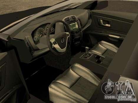 Cadillac CTS para GTA San Andreas traseira esquerda vista