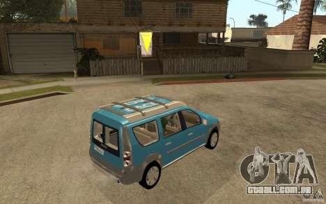 Dacia Logan Steppe Concept para GTA San Andreas vista direita