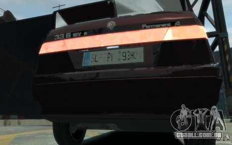 Alfa Romeo 33 para GTA 4 vista de volta