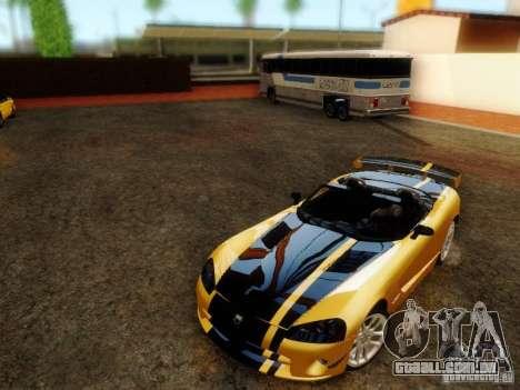Dodge Viper SRT-10 Roadster ACR 2004 para GTA San Andreas traseira esquerda vista