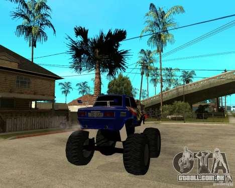 MONSTRO DE ZAZ para GTA San Andreas traseira esquerda vista