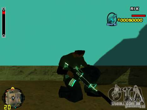 Blue weapons pack para GTA San Andreas sétima tela