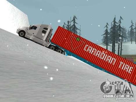 Reboque Container para GTA San Andreas esquerda vista