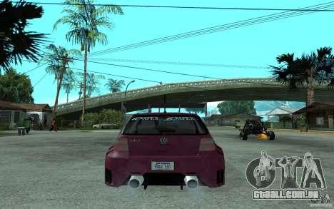 Volkswagen Golf GTI 4 Tuning para GTA San Andreas traseira esquerda vista