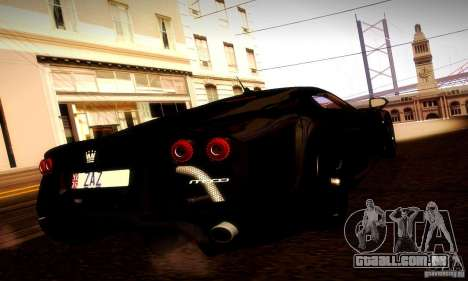 Noble M600 Final para GTA San Andreas vista traseira