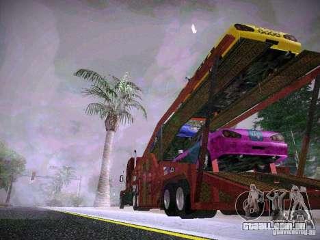 Auto transporte reboque para GTA San Andreas esquerda vista