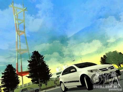 Volkswagen Gol Rallye 2012 para GTA San Andreas traseira esquerda vista