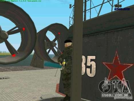Marine RF para GTA San Andreas por diante tela