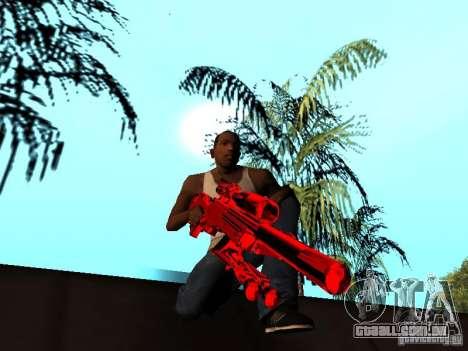 Red Chrome Weapon Pack para GTA San Andreas twelth tela