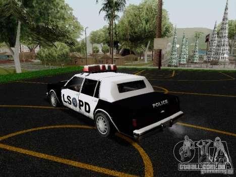 Greenwood Police LS para GTA San Andreas traseira esquerda vista