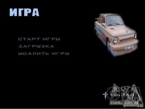 O novo menu do jogo para GTA San Andreas