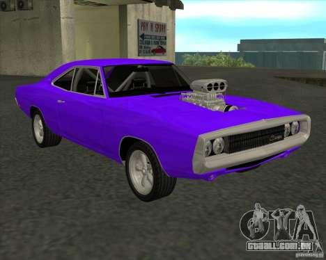 Dodge Charger RT 1970 The Fast and The Furious para GTA San Andreas traseira esquerda vista